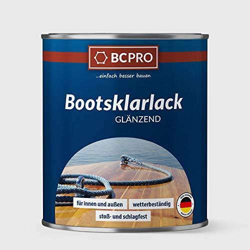 BCPRO Bootsklarlack, Bootslack, Schiffslack, klar, farblos, (750ml, glänzend)