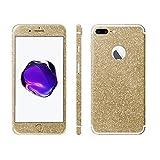 Luch iPhone 8 Plus / 7 Plus Glitzerfolie Skin Diamond Shine Sticker Klebefolie Schutzfolie für Full Body die Vorder- & Rückseite, Gold