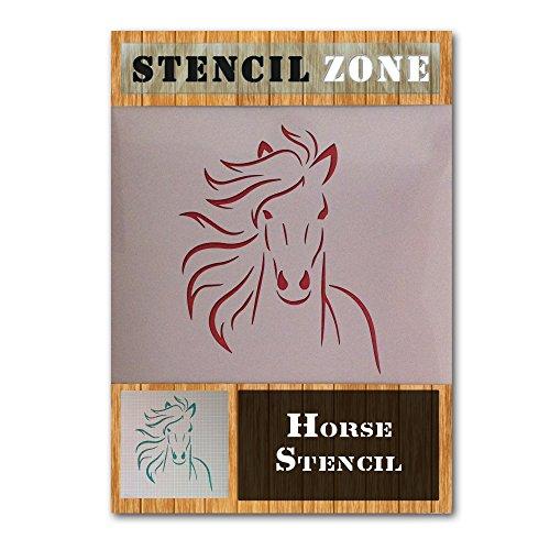 Pferdegesicht Farm Animal Mylar Airbrush Malerei Wand-Kunst-Handwerk-Schablone (A5 Größe Stencil - XSmall)