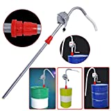 DERCLIVE Alliage D'aluminium Rotatif Manivelle Baril de Pétrole Baril Pompe de Pompage Essence Diesel Carburant Outil Blanc