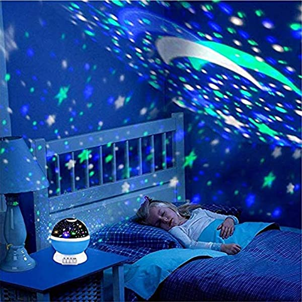 Baby Night Light Star Projector FastWin Moon Novelty Toys Glow In The Dark Toys For Baby Children Sleeping Gift Blue