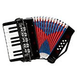 17-Key 8 Bass Kids Accordion Children's Mini Musical Instrument Easy to Learn Music Black - Premium Quality & Affordable Musical Instrument for Students Childern Beginners
