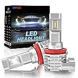 Ampoule H11 LED Auto H8 H9 H16, XENPLUS Blanc 6500K 12V Phares pour Voiture et Moto, Lampes de Remplacement pour Ampoules Halogènes/Xénons Réglable, 2 PCS