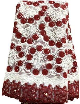 ZHANGOOQI African Lace Max 53% OFF Fabric Milk Fabrics Chicago Mall Silky E Net