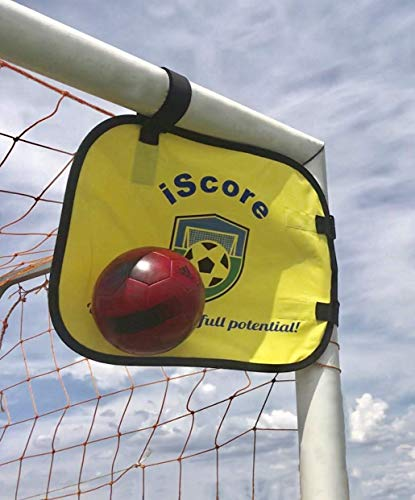 iScore Pop-up Goal Soccer Trainer - Set of 2 Shooting and Training Targets - Soccer Practice Equipment - Goal Shot Trainer - Soccer Training Accessories - Soccer Equipment for Training.