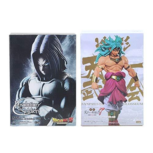 2 stks / set Dragon Ball Z Figuur Sculpturen Grote Tenkaichi Budokai 7 Broly Resolutie van Soldaten Future Trunks Action Figure Toy, Broly trunks withbox