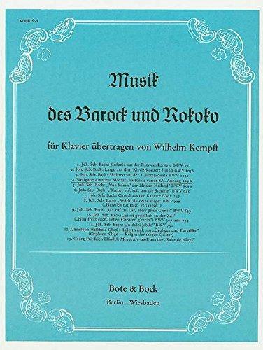 Pastorale variée: KV Anh. 209b. Klavier. (Musik des Barock und Rokoko)