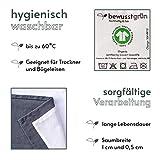 BewusstGrün - 24 𝗡𝗮𝗰𝗵𝗵𝗮𝗹𝘁𝗶𝗴𝗲 𝗦𝘁𝗼𝗳𝗳𝘀𝗲𝗿𝘃𝗶𝗲𝘁𝘁𝗲𝗻 grau I 45x45 cm I 100% Bio-Baumwolle - Aufwertung des Tisches für Anlässe und Alltag - 6