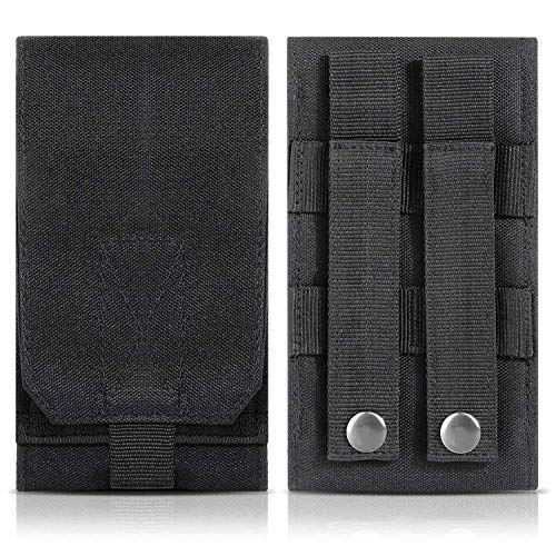 DOUN Tactical Phone Holster Army Mobile Phone Belt Pouch Molle Bag Cover Case for iPhone Xs Max iPhone 8 Plus Galaxy Note 9 S10 Plus - Black