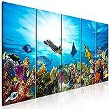 decomonkey Bilder Aquarium 200x80 cm 5 Teilig