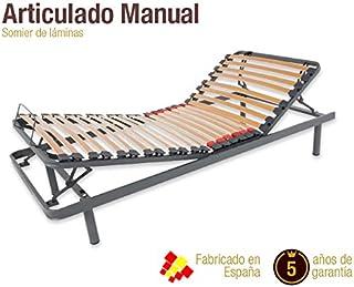 comprar comparacion Naturconfort Somier Articulado Manual, Madera, 135x180cm