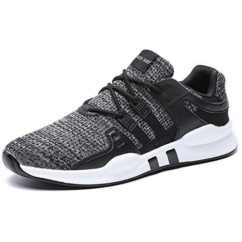 SITAILE Laufschuhe Herren Damen Sportschuhe Straßenlaufschuhe Sneaker Joggingschuhe Turnschuhe Walkingschuhe Traillauf Fitness Schuhe,46 EU,Grau