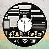 Beisite Geek Gadget Vinyl Wall Clock Record Diseño único Decoración para el hogar y la habitación de los niños Diseño Vintage Office Bar Room Decoración para el hogar