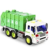 Friction Powered Garbage Truck Toys 1:16 Toy Vehicle with Lights and Sounds for Kids