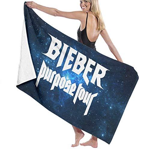 AGSIGGSGO Toalla de baño, Justin Bieber, Suave, Grande, para natación, Playa