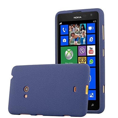 Cadorabo Hülle für Nokia Lumia 625 - Hülle in Frost DUNKEL BLAU – Handyhülle aus TPU Silikon im matten Frosted Design - Silikonhülle Schutzhülle Ultra Slim Soft Back Cover Case Bumper