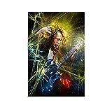 NEGD Póster decorativo de la pared del guitarrista Angus Young, Rock retro, 30 x 45 cm