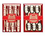 Melville Candy Hand Dipped Chocolate & Peppermint Flavored Spoons and Stirrers (Pack of 2)