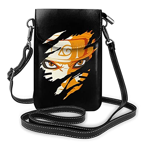 Naru-to - Monedero para teléfono para mujer, bolso de mano, bolso de piel y funda para teléfono móvil