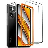 Widamin 2Pack, Panzerglas Compatible für Xiaomi Poco F3 / Redmi K40/ Redmi K40 Pro, Bildschirmschutzfolie Mit Positionierhilfe, Hohe Auflösung Glas, [9H Festigkeit], [Crystal Clearity], [Anti-Kratzen]