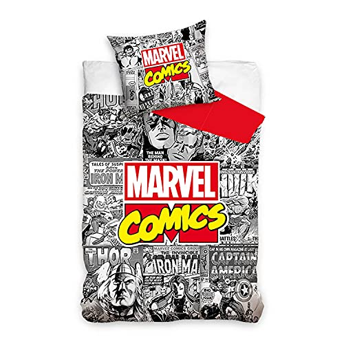 Avengers Comics - Ropa de Cama Infantil (140 x 200 cm + 70 x 90 cm)