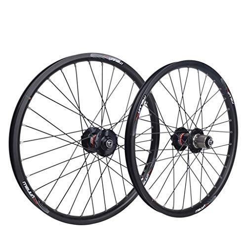 Rueda de bicicleta Juego de ruedas de bicicleta de 20 pulgadas Llanta...