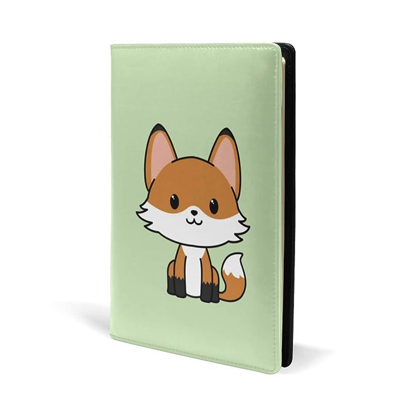 等価議論する疾患ブックカバー a5 狐狸 きれい かわいい 文庫 PUレザー ファイル オフィス用品 読書 文庫判 資料 日記 収納入れ 高級感 耐久性 雑貨 プレゼント 機能性 耐久性 軽量