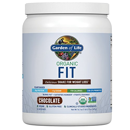 Garden of Life Organic Fit Protein Powder Chocolate 16.1oz, pack of 1