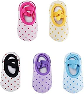 Bebé Niña Calcetines Antideslizantes con Algodón 5 Pares para 10 a 36 meses