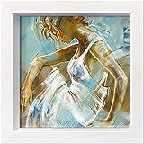 International Graphics Gerahmte Postkarte - MEIJERING, Kitty - ''Ocean Breeze I'' - 16 x 16 cm - weißer Rahmen