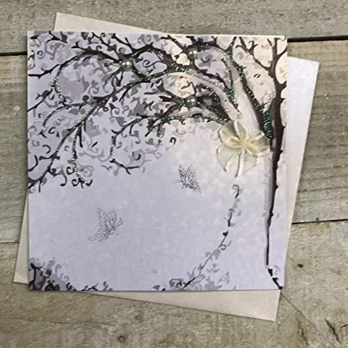 witte katoenen kaarten Lege Boom Ontwerp, Handgemaakte Kleine Kaart (Code PD132)