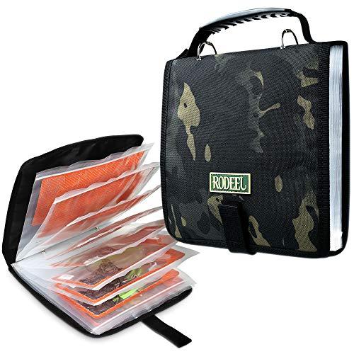 Rodeel Fishing Tackle Binder, Waterproof Sea Fishing Storage Rig Bag
