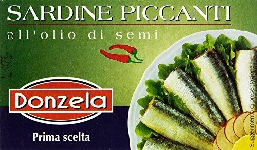 Donzela Sardine Piccanti all'Olio di Semi - 125 gr