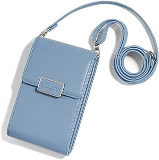 Caxion Women Phone Wallet Girls Crossbody Bag Leather Coin Purse Zipper Pocket