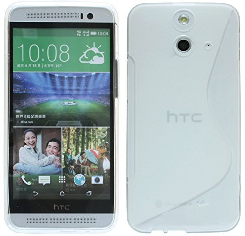ENERGMiX Silikon Hülle kompatibel mit HTC One E8 Tasche Hülle Gummi Schutzhülle Zubehör in Transparent