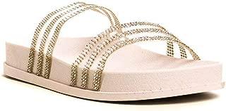 IKRUSH Womens Nika Double Strap Diamante Sliders