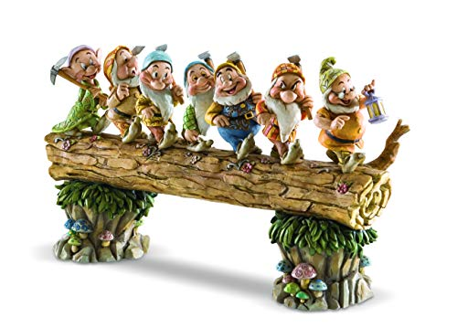 Disney Traditions by Jim Shore Snow White and the Seven Dwarfs Heigh-ho Stone Resin Figurine, 8.25