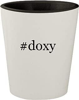 #doxy - White Outer & Black Inner Hashtag Ceramic 1.5oz Shot Glass
