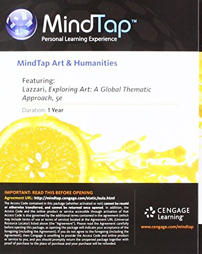 MindTap Art, 1 term (6 months) Printed Access Card for Lazzari/Schlesier's Exploring Art: A Global, Thematic Approach, 5th -  Lazzari, Margaret, Printed Access Code