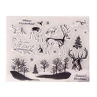 クリアスタンプ森の動物DIYスクラップブックカードアルバムペーパークラフトシリコンゴムローラー透明スタンプT1190