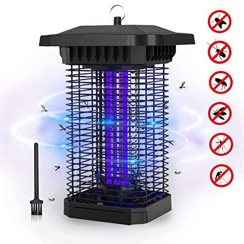 FOCHEA Zanzariera Elettrica, 18W UV Lampada Antizanzare Impermeabile IPX4, Lampada Zanzare da Esterno e Interno Silenziosa per Casa Giardino(M)