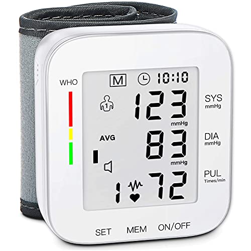 Blood Pressure Monitor Large LCD Display & Adjustable Wrist...