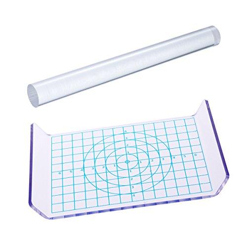 Rosenice Plaque acrylique rectangulaire avec réseau Pour argile
