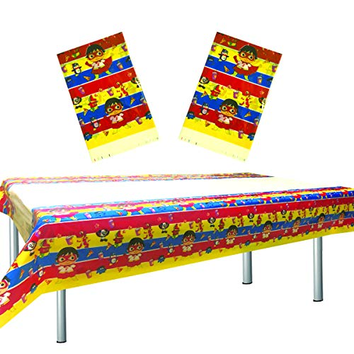 2 Pcs Ryan's World Tablecloth, Ryan's World Table Cover Birthday Party Supplies Decorations (70' x 42')