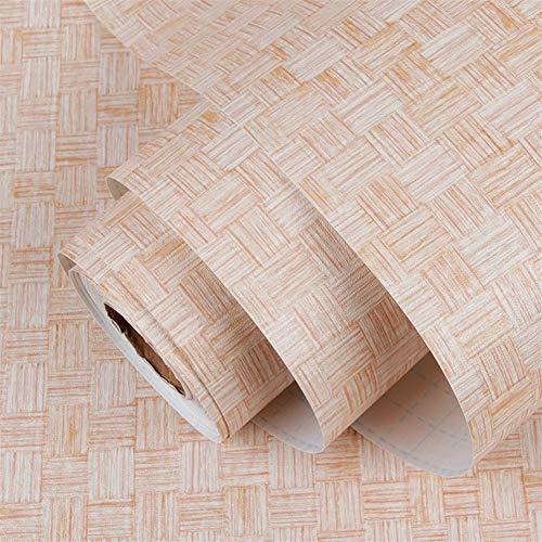 Ommda Fotobehang vliesbehang 3D-patroon PVC waterdicht zelfklevend behang voor woonkamer badkamer slaapkamer kantoor hal decoratie 60cmx12m Beige A