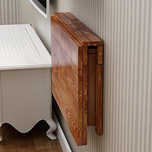NYSCJJJ Tavolo da Pranzo Pieghevole in Legno massello Tavolo Pieghevole a Parete Tavolo Space-Saver Fold Carbonio da scrivania trasformabile (Size : 80 * 40cm)