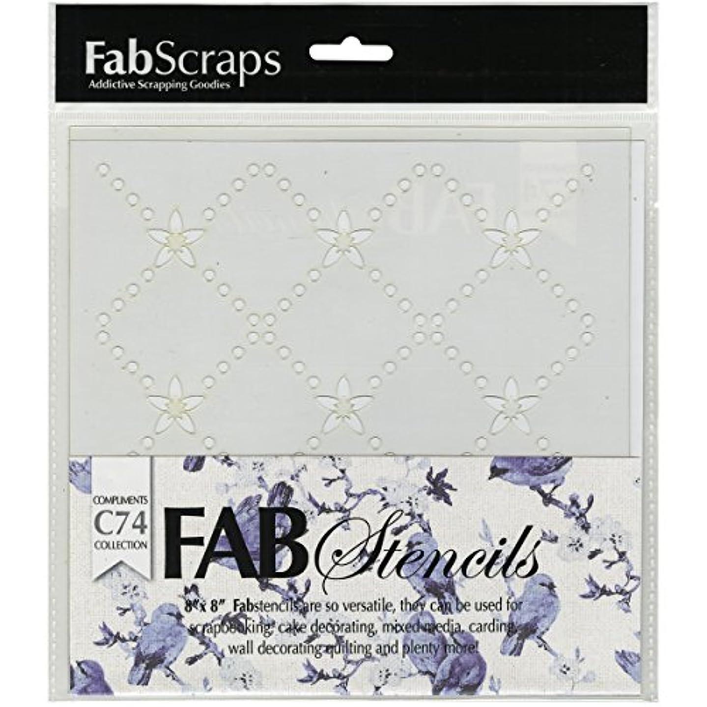 FabScraps Kaleidoscope Plastic Stencil, 8 x 8