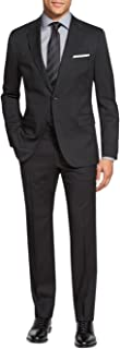 Men's Suit Two Button Side Vent Jacket Flat Front Pants