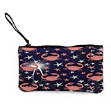 Bolsa de lona con diseño de cangrejo y Starfish01 de dibujos animados de viaje y maquillaje, estuche de lápiz con asa de lona con cremallera, bolsa de aseo portátil