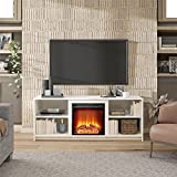 Ameriwood Home Cabot Fireplace Stand for TVs up to 65', White